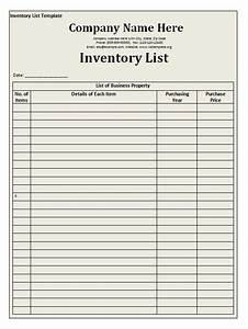 Memo Sheet Template Inventory List Template Free Word Templates