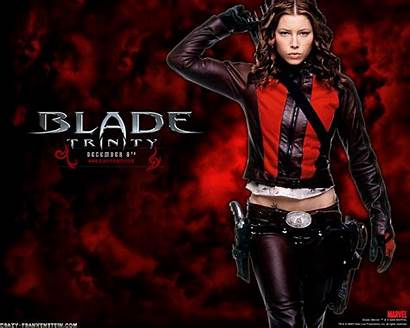 Blade Trinity Wallpapers Movies Jessica Biel Posey