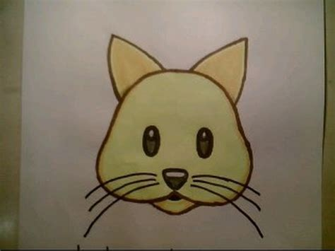 draw  cat emoji face cute dog easy  kids