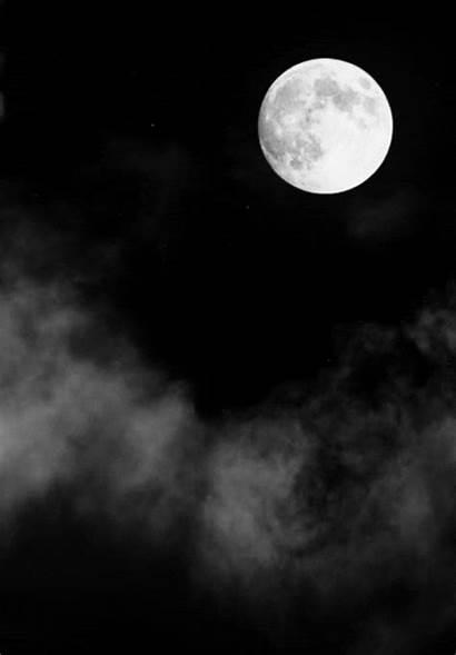 Luna Moon Night Clouds Gifs Sky Animated