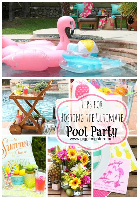 Tips For Hosting The Ultimate Pool Party  Giggles Galore