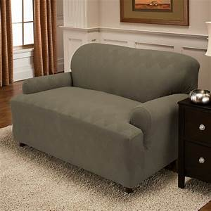 T cushion sofa slipcover 3 piece home design ideas for 3 piece sectional sofa slipcovers