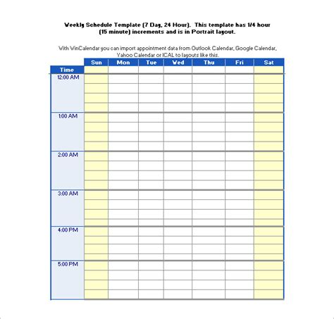 hourly schedule template 22 24 hours schedule templates pdf doc excel free premium templates