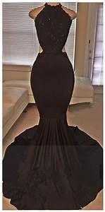 Black Prom Dresses,Mermaid Prom Dress,Lace Prom Dress,Lace ...