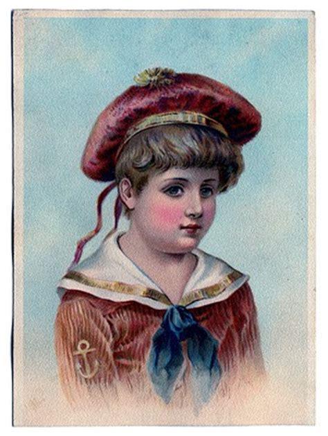 vintage clip art darling victorian sailor boy