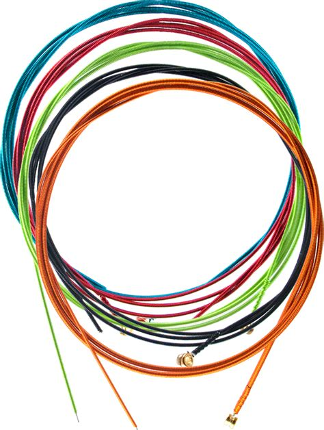 5 string bass guitar strings colored lified