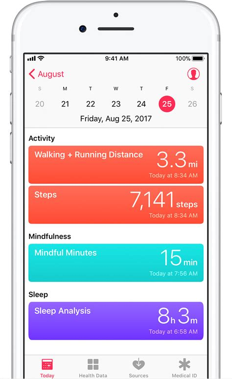 s health app for iphone use the health app on your iphone or ipod touch apple