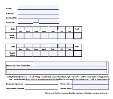 time sheet template for all employees word 50 printable timesheet templates free word excel documents