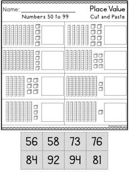 place  tens   worksheets base ten blocks