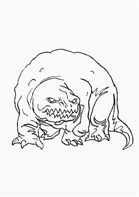 Kleurplaat Enge Monsters by Monsters Kleurplaten Animaatjes Nl