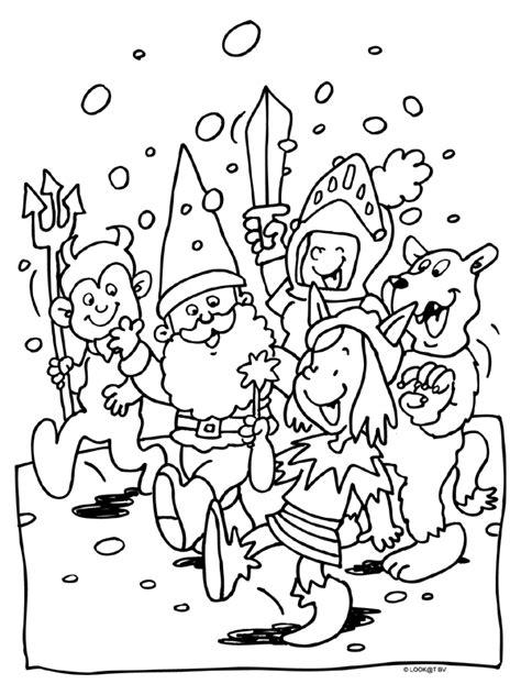 Optocht Kleurplaat by Kleurplaat Carnaval Optocht Fastelavn