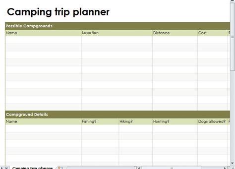 trip planner template cing trip planner cing road trip planner