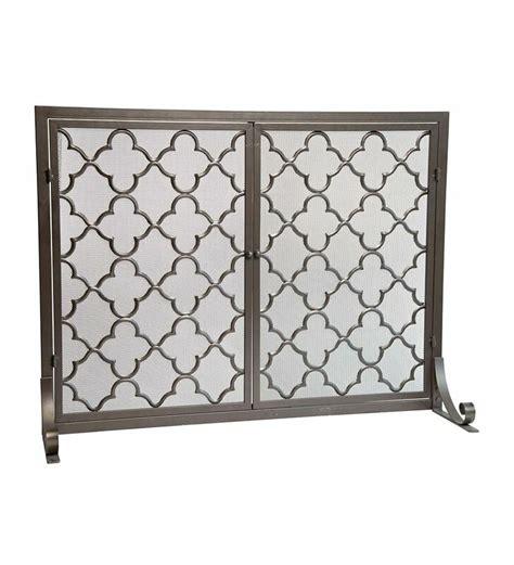 plow hearth geometric single panel steel fireplace