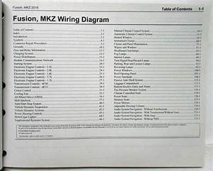 2016 Ford Fusion Lincoln Mkz Electrical Wiring Diagrams Manual