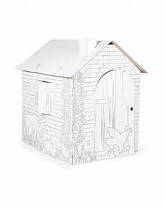 Cabane En Carton À Colorier : maison de jeu colorier en carton cabane serpent lunettes ~ Melissatoandfro.com Idées de Décoration