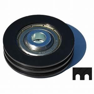 poulie en nylon double gorges diametre 50mm With poulie porte de garage
