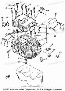 Yamaha Motorcycle 1981 Oem Parts Diagram For Cylinder Head