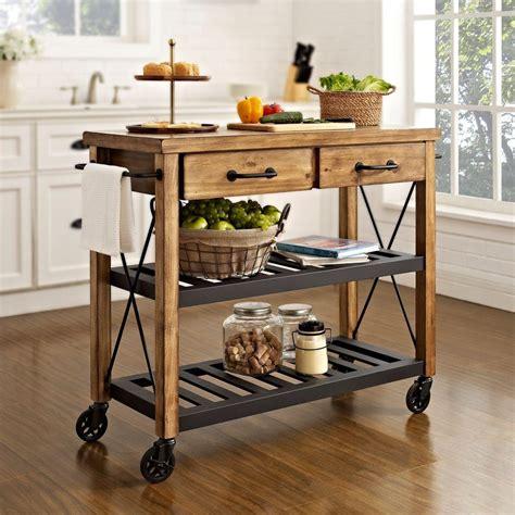 kitchen island trolley crosley roots rack industrial kitchen cart in