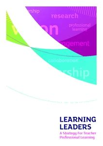 learning leaders  strategy  teacher professional