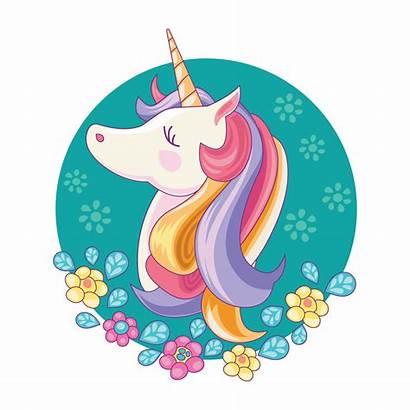 Unicorn Magic Vector Pony Clipart Illustration Card
