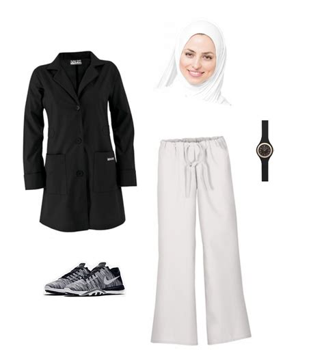 simple outfit   muslim woman     medical field