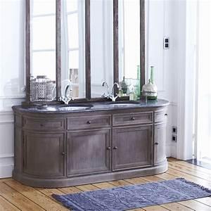 Meuble Vasque Salle De Bain Retro. meuble sous vasque double vasque ...