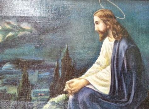 jesus overlooking jerusalem original  oil painting