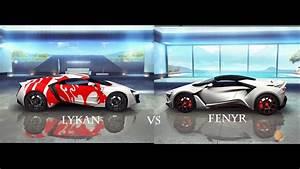 lykan hypersport vs fenyr supersport asphalt 8 pc