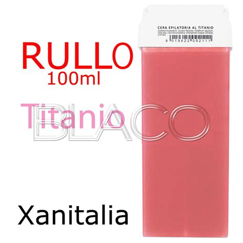 xanitalia rullo cera depilatoria 100ml rosa al titanio in