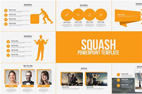 squash powerpoint template powerpoint templates