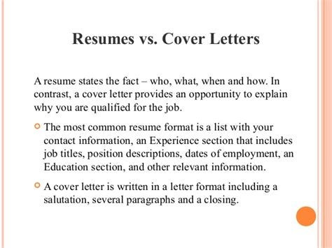 The Importance Of A Resume by Importance Of Resume And Cover Letter