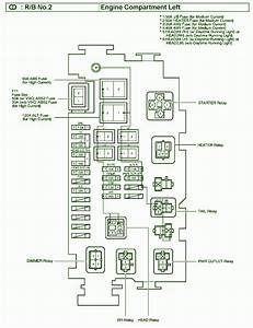 2005 Toyota Tacoma Engine Comportment Fuse Box Diagram