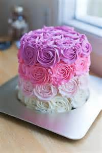 Pink Ombre Rose Cake BS' in the Kitchen