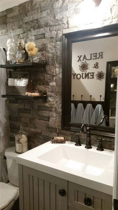 awesome ideas  add rustic style  bathroom