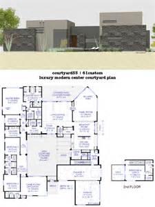 Contemporary Plan Luxury Modern Courtyard House Plan 61custom Contemporary Modern House Plans