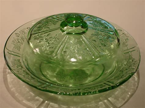 depression glass green depression glass pattern identification and photos