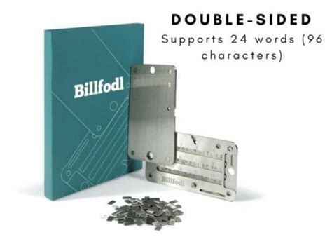 Just stamp it out with your 12 or 24 word recovery phrase and secure it in a safe place. Metal Plate Wallets for Bitcoin Recovery Seed Key | ToughGadget