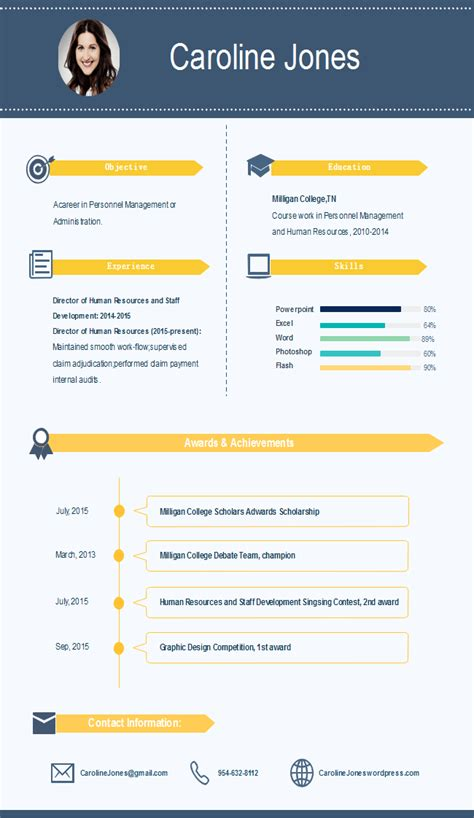 simple infographic resume  simple infographic resume