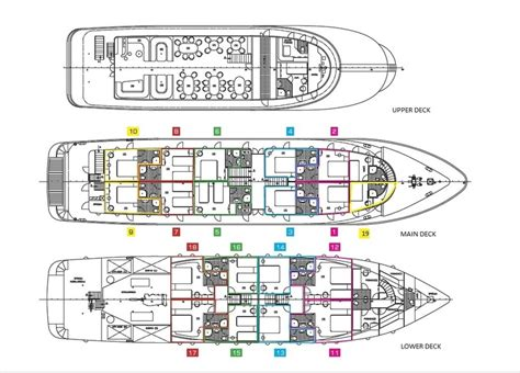 Pearl Ship Deck Plan by Ship Deck Layout
