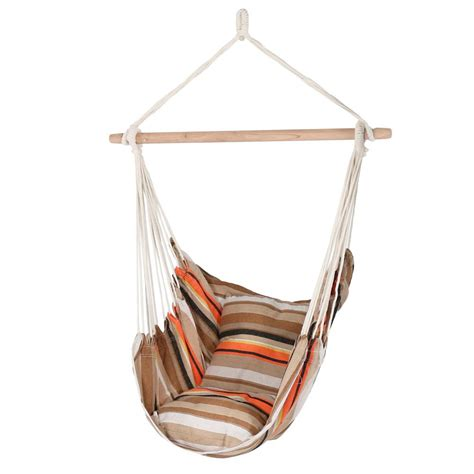 Hanging Hammock by Sunnydaze Decor 3 5 Ft Fabric Hanging Hammock Swing With