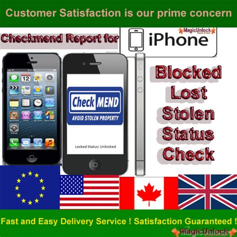 report stolen iphone checkmend report for iphone 5 4s 4 3gs 3g blocked