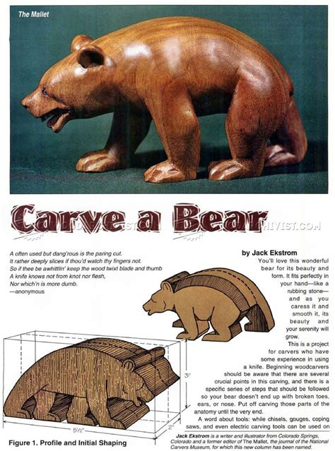 carving bear wood carving patterns wood carving