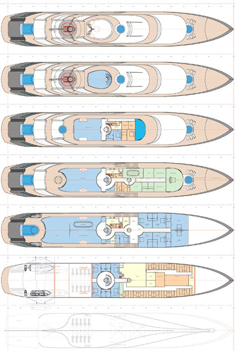 Yacht Plans by 92m Superyacht Yacht Island Luxury Yachts