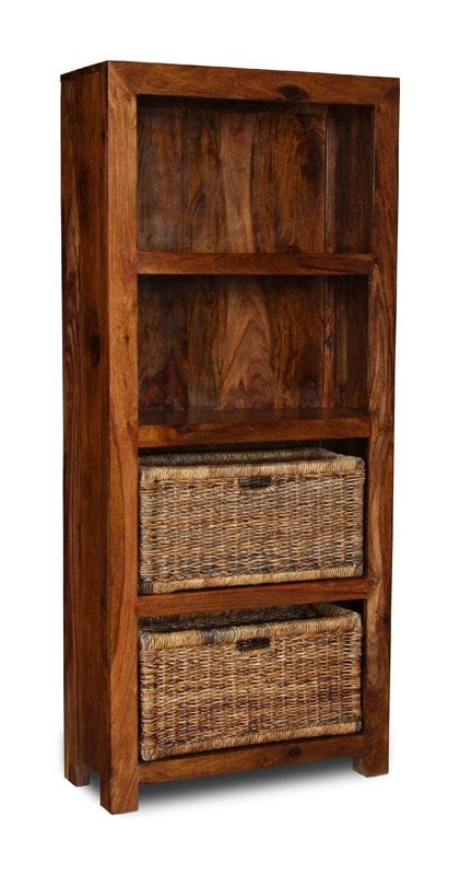 Bookcases With Baskets by Cube Bookcase With Baskets Sheesham Furniture