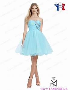 robe de cocktail bleu ciel With robe bleu or