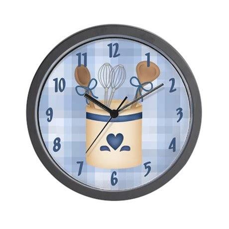Kitchen Utensils Wall Clock By Cowpiecreek