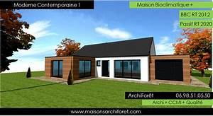 moderne contemporaine 1 maison design ossature bois plain With lovely maison bois toit plat 12 maison contemporaine avec patio