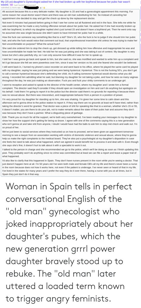 yo daughters gynecologist asked
