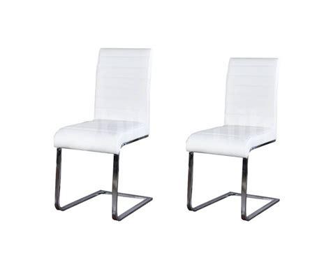 chaise simili cuir blanc maison design zeeral