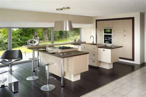 cuisine ouverte avec ilot table idée modele ilot cuisine ikea